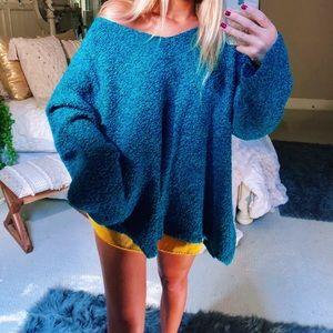 Sweaters - cozy sea foam slouchy oversized knit